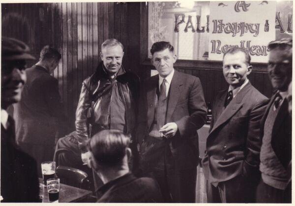 Customers Drinking At The Kirknewton Inn Around New Year c.1956