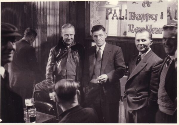 Customers Drinking At The Kirknewton Inn Around New Year c.1956