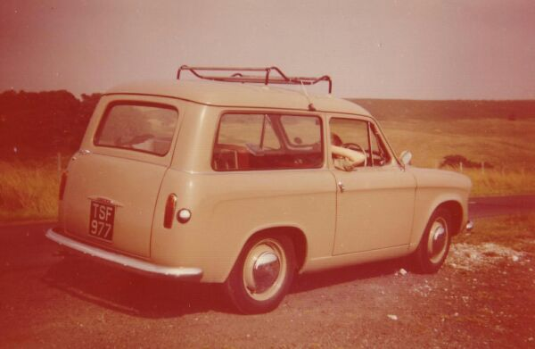 Small Estate Car Rear View, early 1960s