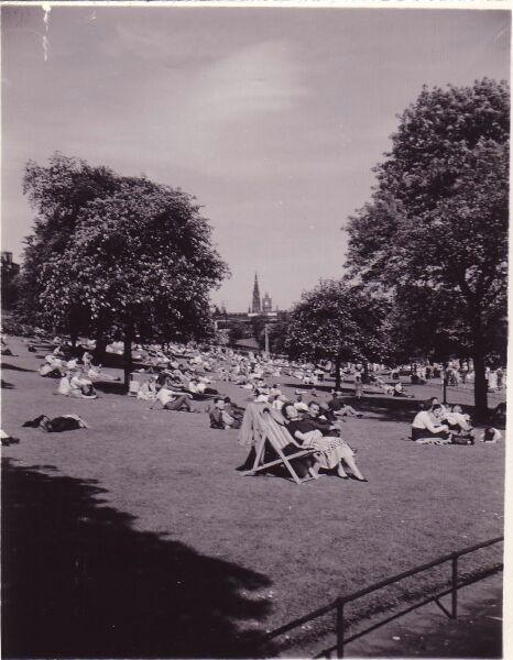 Enjoying The Afternoon Sun In Princes Street Gardens c.1958