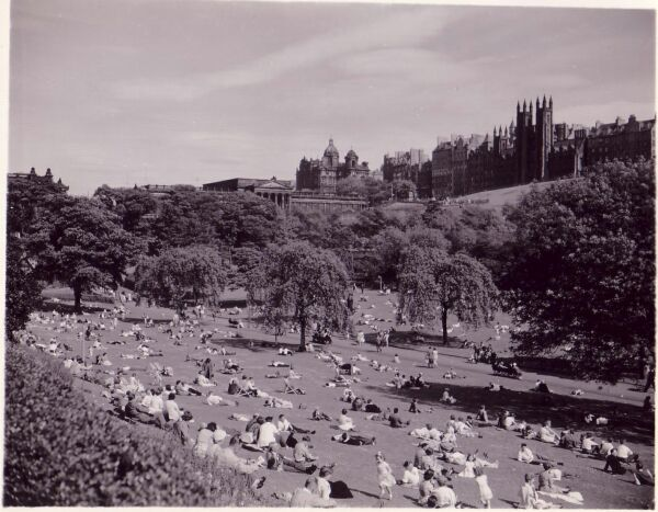 Sunny Afternoon In Princes Street Gardens c.1958