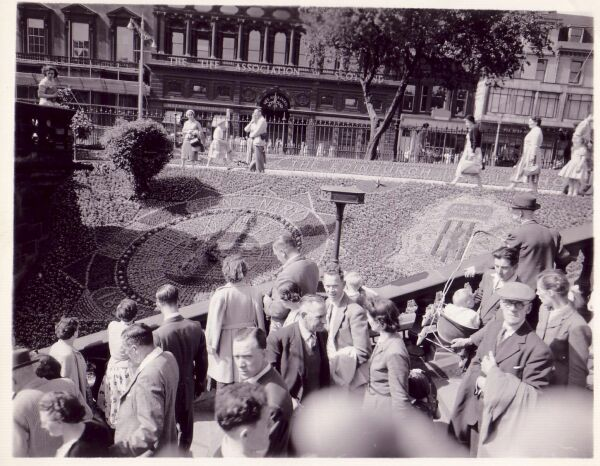 The Floral Clock In Princes Street Gardens 1958