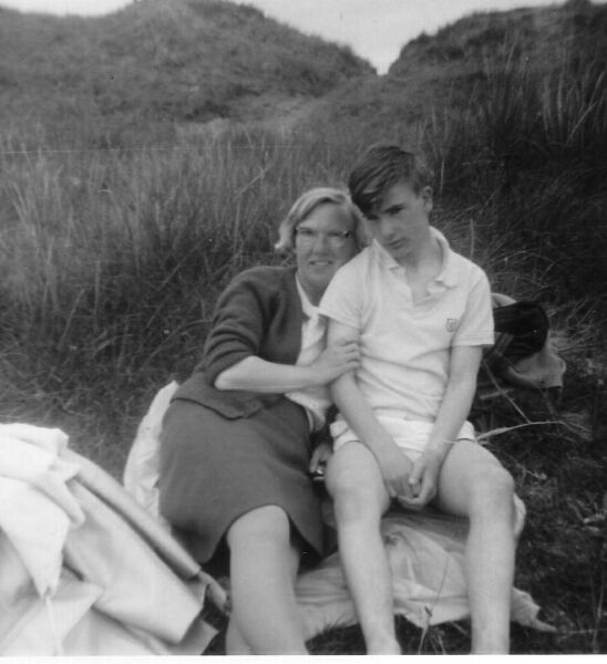 Mother And Teenage Son On Trip To Holy Island 1966