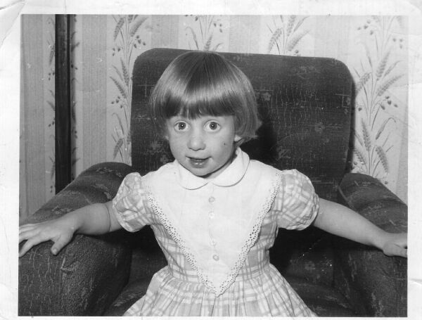 Young Girl Sitting In Armchair 1964