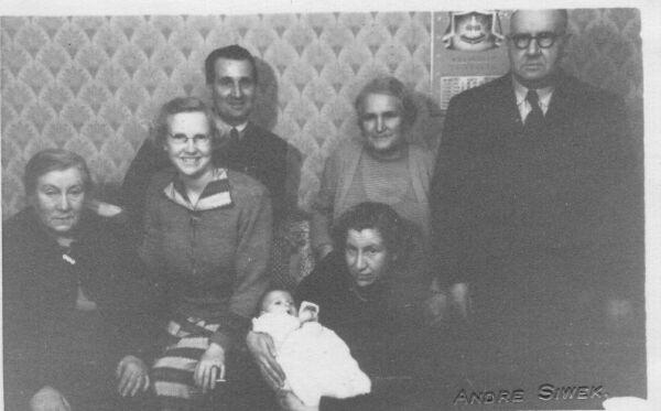 Three Generations At Child's Christening 1953