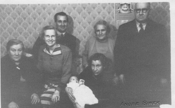 Three Generations Of Family At Child's Christening 1953