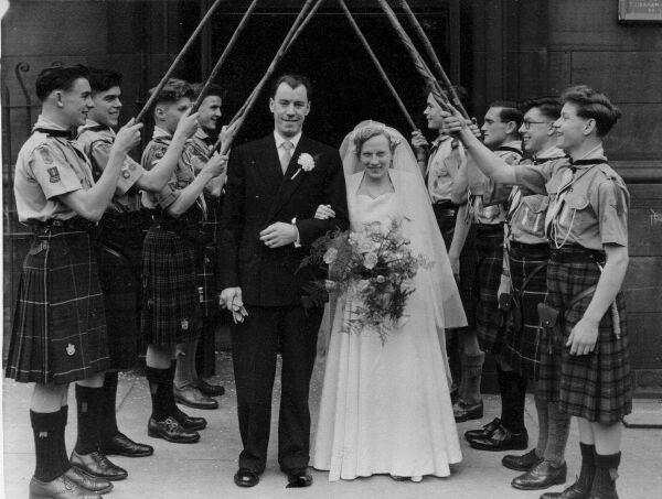 A Boy Scouts Wedding 1953