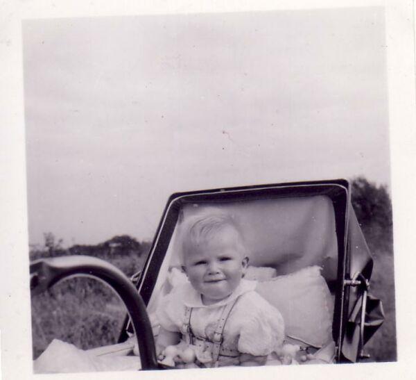 Baby Boy In Pram 1953