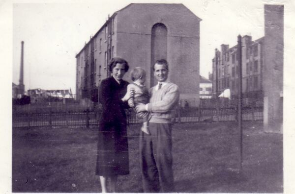 Family Standing In The Back Green At 100 Slateford Road 1953