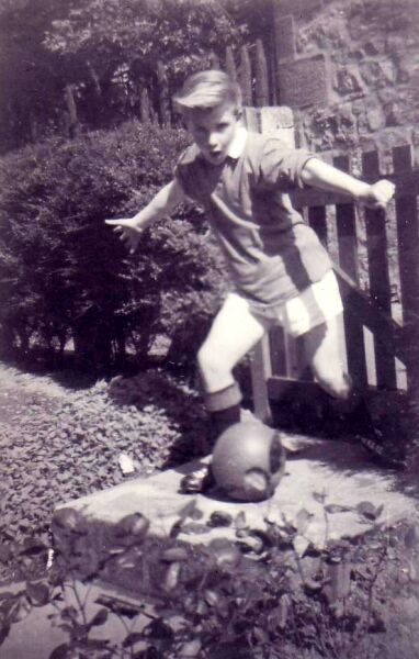 Playing Football In The Garden 1962