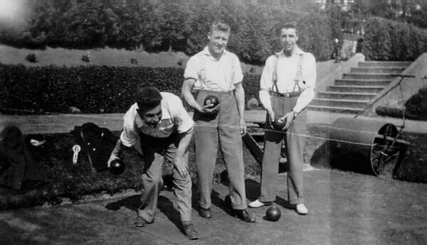 Young Men On The Bowling Green c.1930