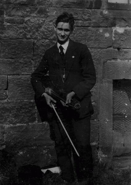 Young Man With Fiddle 1920s
