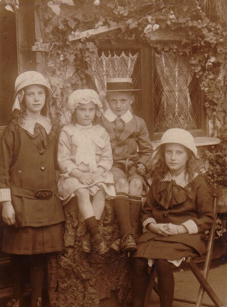 Group Portrait Brother And Sisters c.1912
