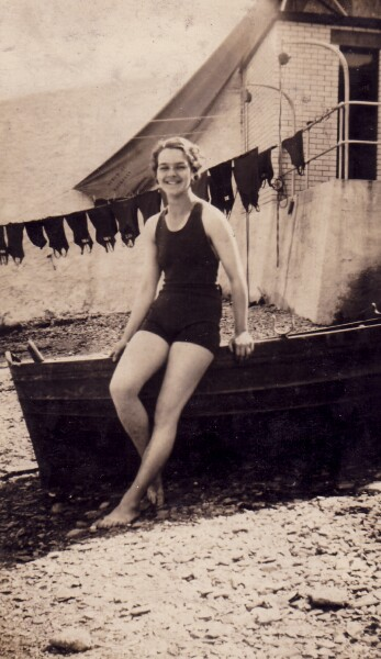 Young Woman In Bathing Costume At Aberdour 1932