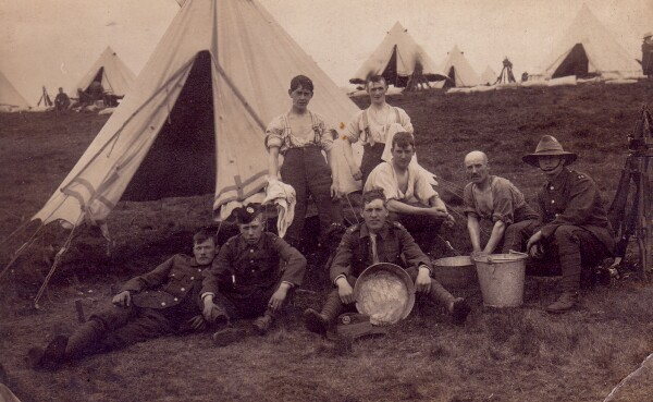 Soldiers Camped At Surgical Field Station In France 1914-18