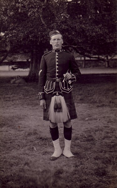 Soldier Of The Seaforth Highlanders c.1915