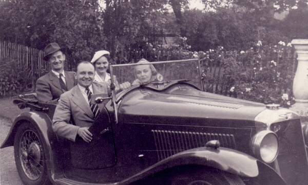 Two Couples Out For A Drive 1950s