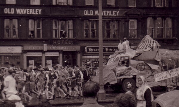 Student Charity Procession On Princes Street 1960s