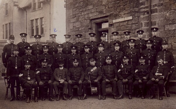 Group Portrait Glasgow Police Officers 1920s