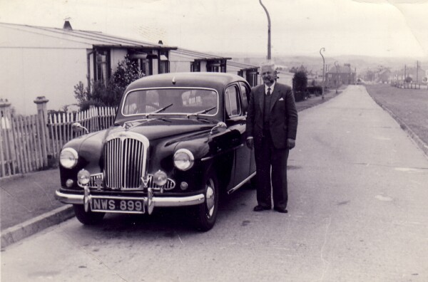 Driver Standing Beside His New Car, 20th July 1962