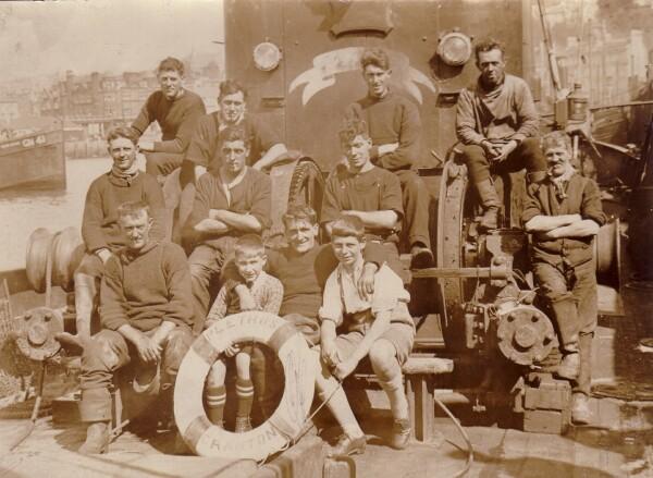 "Crew Of The Trawler ""Plethos"" At Granton Harbour c.1923"