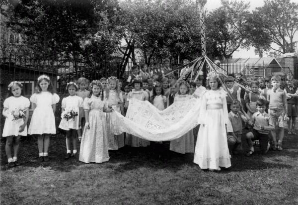 Thorpe Hall Primary School May Day Celebration 1947