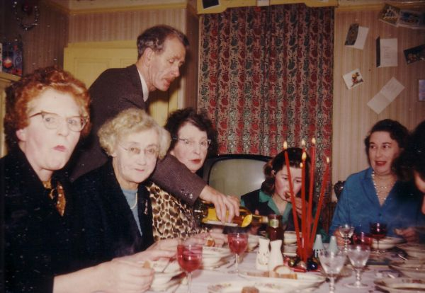 Christmas Day Dinner At 39 Northfield Crescent 1963