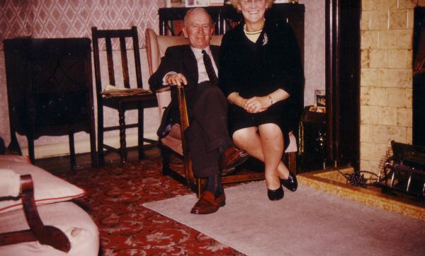 Couple In Their Living Room At 43 Northfield Crescent On New Year's Day 1964