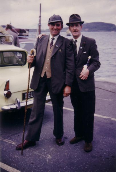 Two Men Standing On The Ferry Slipway At Oban 1964