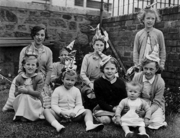 Children at a Coronation party 1953