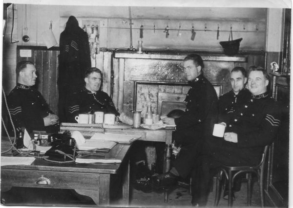 Police Officers Off Duty At Leith Police Station c.1930