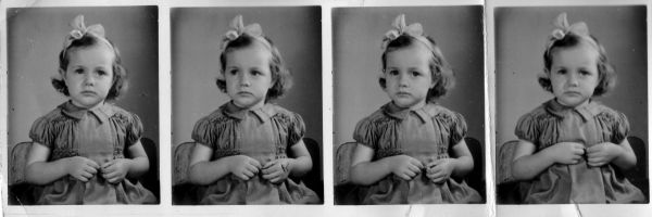 Studio Portrait Strip Young Girl c.1946