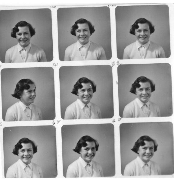 """PolyPhoto"" Portrait Of Girl Taken At Binns Department Store c.1953"