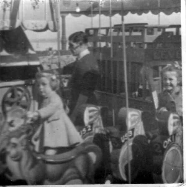 Children on Merry-Go-Round at 'Fun City' Portobello Promenade, late 1940s