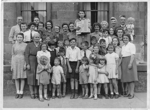 Victory Party For Tenement Familes At No's 9 and 10 Promenade Terrace, Portobello 1945