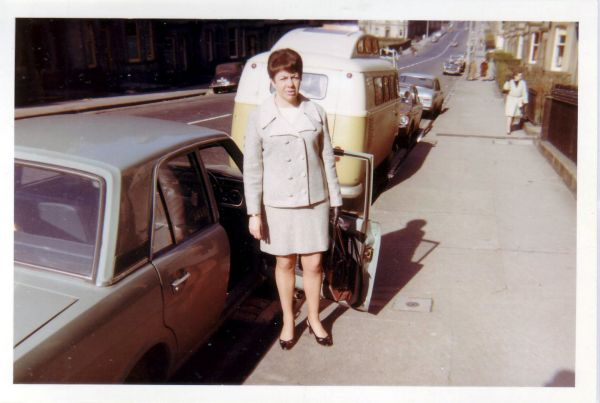 Woman Stepping Out Of Car At Comely Bank Avenue 1968