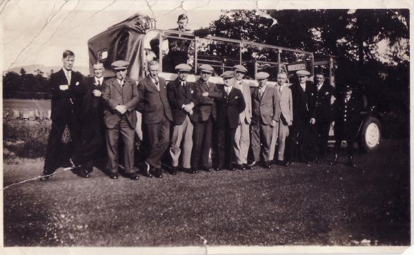 Group Of Men On Charabanc Outing 1920s