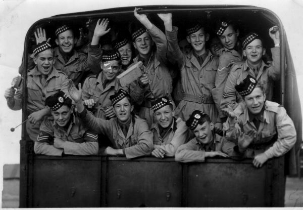 Army Section Of The Royal High School Combined Cadet Force At Barry Buddon Training Camp, 30th July 1952