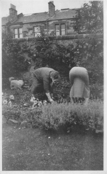 Two Women Working In The Back Garden 1938