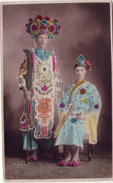 Hand Coloured Studio Portrait In Chinese Costume c.1926