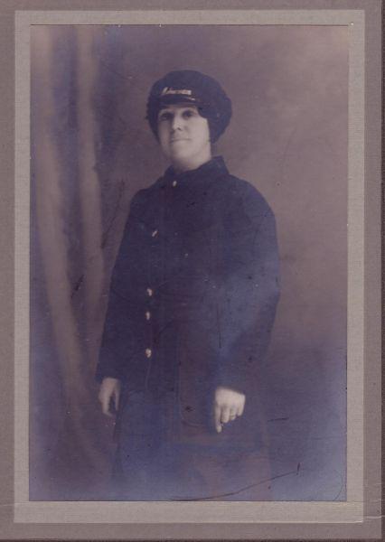 Studio Portrait Woman Tram Driver 1914-18