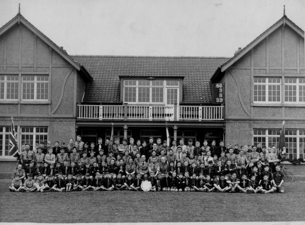 12th Portobello Scout Group At Jock's Lodge Playing Fields Pavilion 1947