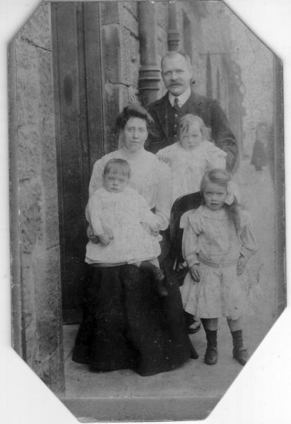 Family Outside Door In Close At St John's Hill 1911