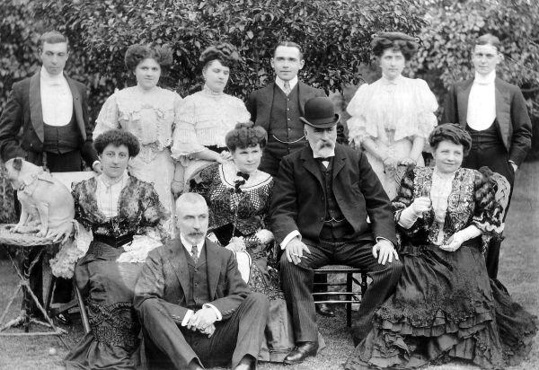 Group Portrait Taken In Garden At 9 Claremont Park c.1900