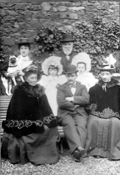 Edwardian Family Portrait Taken In The Garden Probably At 9 Claremont Park c.1900