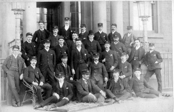 Forth Corinthian Yacht Club Members At Granton Square c.1890