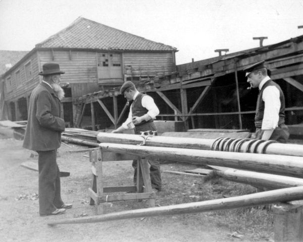 Preparing Timber Masts c.1900