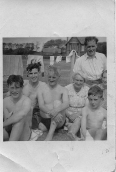 Swimming Club Outing To Portencross c.1949