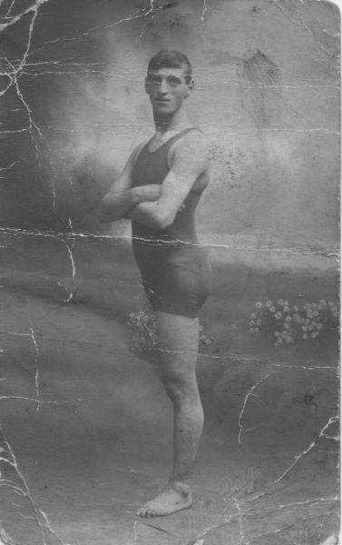 Studio Portrait One-Legged Swimmer c.1908