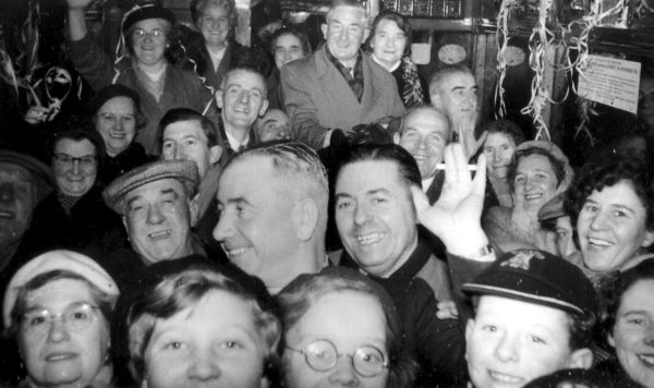 Passengers On The Last Tram To Run From Portobello To GPO At Waterloo Place 1956